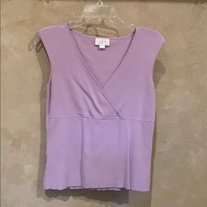 Ann Taylor might purple sleeveless top